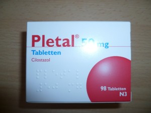 The recommended dosage of Pletal is 100 mg twice daily taken at least half an hour before or two hours after breakfast and dinner.