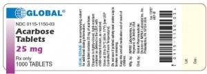 Acarbose * (Acarbose *). Application: Sugar rafineries type 2 diabetes