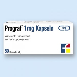 Prograf. Indications: Prevention and treatment of allograft rejection of the liver, kidneys and heart, including with resistance to standard immunosuppressive regimes.