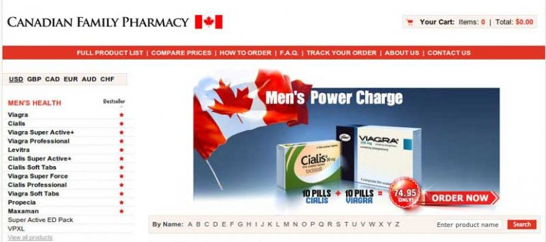 canadian family pharmacy official site